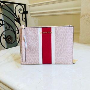 NWT Michael Kors xl Signature clutch wallet